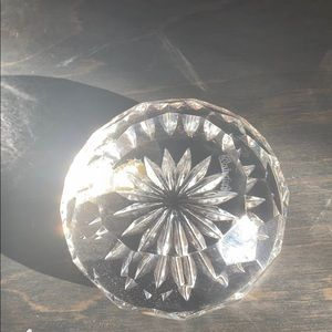 WATERFORD vintage crystal dome paperweight.